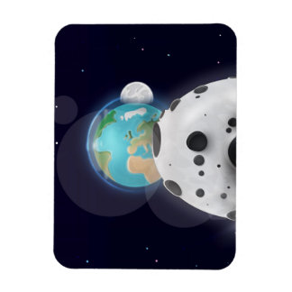Astroid impact the Planet Earth! Magnet
