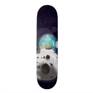 Astroid impact the Planet Earth Custom Skateboard