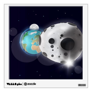 Astroid impact the Planet Earth! Wall Sticker