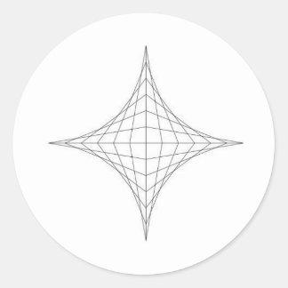 astroide classic round sticker