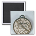 Astrolabe 2 Inch Square Magnet