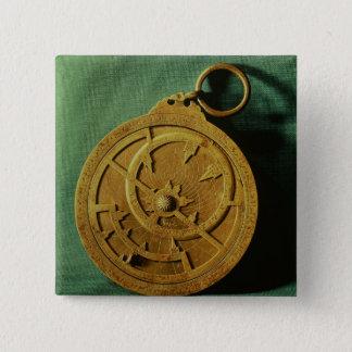 Astrolabe (copper) pinback button