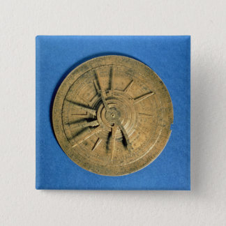 Astrolabe for calculating horoscopes, European Button