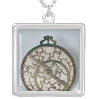 Astrolabe Silver Plated Necklace