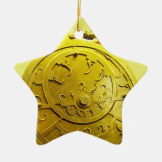 Astrolabio Adorno Navideño De Cerámica En Forma De Estrella