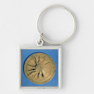 Astrolabio para los horóscopos calculadores, europ llavero cuadrado plateado