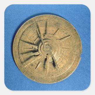 Astrolabio para los horóscopos calculadores, pegatina cuadrada
