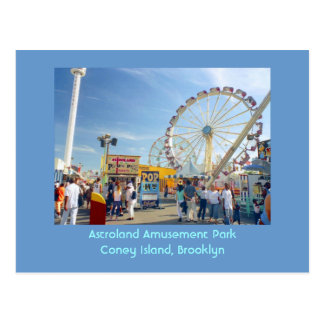 Astroland Amusement Park (Coney Is., NY) postcard