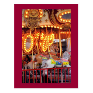 Astroland Carousel (Coney Island, NY) postcard