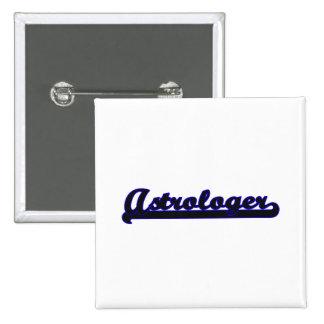 Astrologer Classic Job Design 2 Inch Square Button