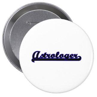 Astrologer Classic Job Design 4 Inch Round Button