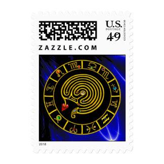 Astrología ASTRAL de la CARTA de la MUESTRA del Sello Postal