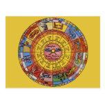 Astrología celestial del vintage, rueda antigua postal