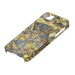 Astrología celestial del vintage, rueda del zodiac iPhone 5 Case-Mate protectores