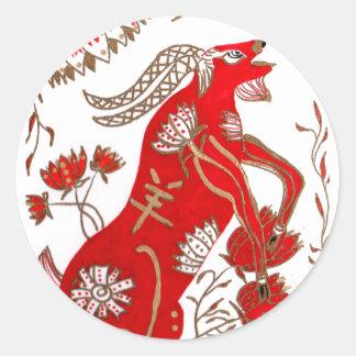 Astrología china de las ovejas pegatina redonda
