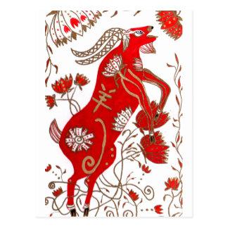 Astrología china de las ovejas tarjetas postales