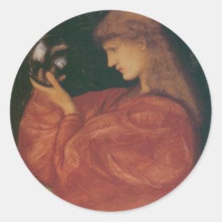 Astrologia de Edward Burne-Jones Pegatina Redonda