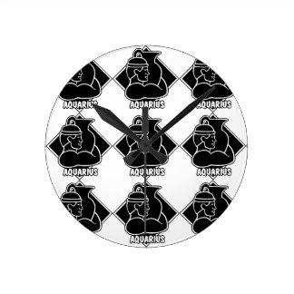 Astrología de la muestra del zodiaco del horóscopo relojes de pared