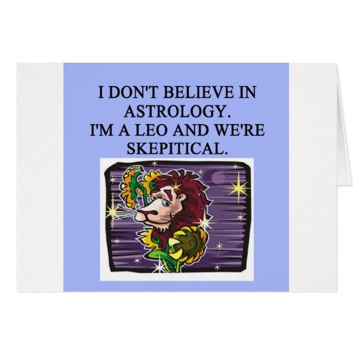 Astrología de LEO Tarjeta De Felicitación