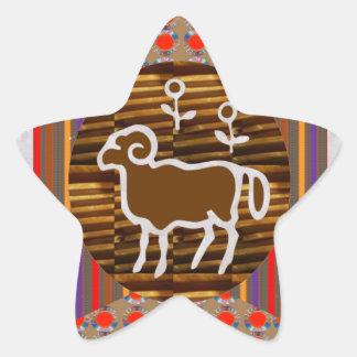Astrología del símbolo del zodiaco del ARIES de Pegatinas Forma De Estrella Personalizadas