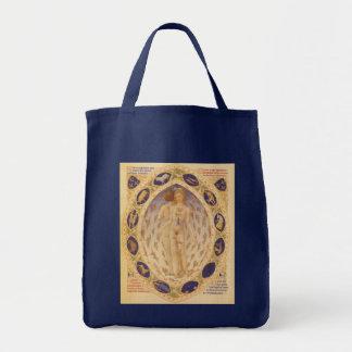 Astrología del vintage, carta celestial antigua bolsa tela para la compra