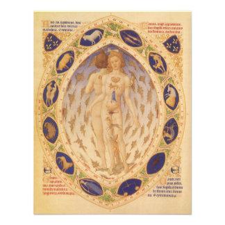 Astrología del vintage carta celestial antigua de invitacion personalizada