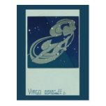 Astrología del vintage, constelación del virgo, postales