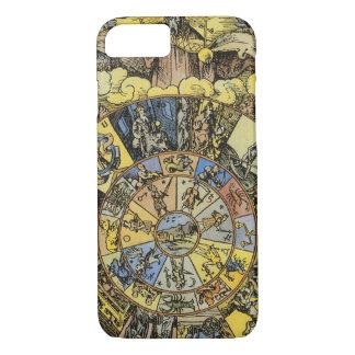 Astrología del vintage, rueda del zodiaco de funda iPhone 7
