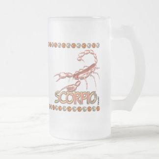 Astrología del zodiaco de la amistad del escorpión tazas de café