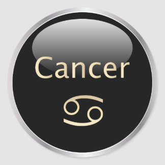 Astrología del zodiaco del cáncer, pegatinas de la pegatina redonda