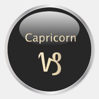 Astrología del zodiaco del Capricornio, pegatinas Etiquetas Redondas