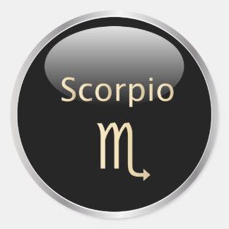 Astrología del zodiaco del escorpión, pegatinas de pegatina redonda