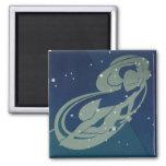Astrología del zodiaco del vintage, constelación imán cuadrado