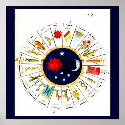 Astrología/Divination-16 del Poster-Vintage