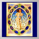 Astrología/Divination-1 del Poster-Vintage