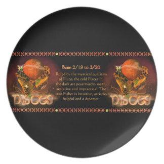 Astrología gótica del zodiaco de Piscis por Valxar Platos