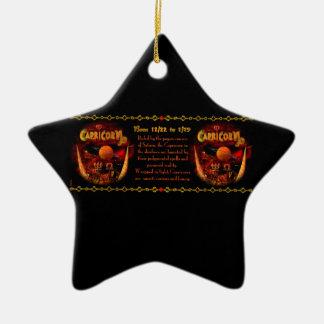 Astrología gótica del zodiaco del Capricornio de V Ornamento De Reyes Magos