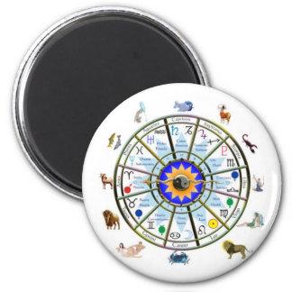 Astrología - muestras del ZODIACO Imán Redondo 5 Cm