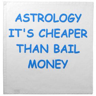 astrología servilleta de papel