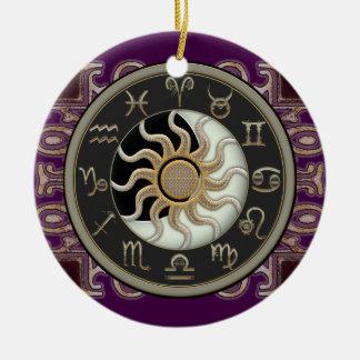 Astrología Sun y luna personalizada Adorno Para Reyes