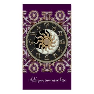 Astrología Sun y personalizado del diseño de la Plantilla De Tarjeta De Visita