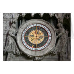 Astrological Clock Chartres Greeting Card