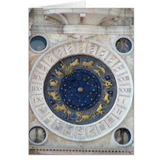 Astrological Clock,  Piazza San Marco, Venice Card