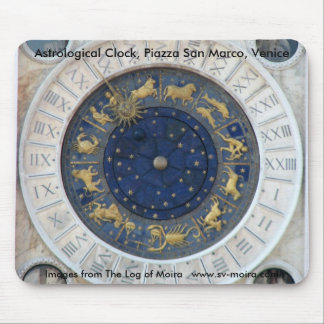 Astrological Clock,  Piazza San Marco, Venice Mouse Pad