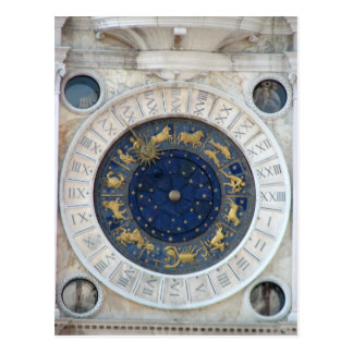 Astrological Clock,  Piazza San Marco, Venice Postcard
