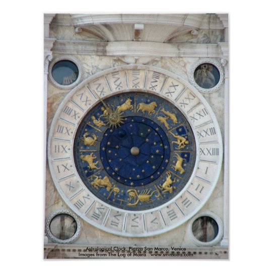 Astrological Clock,  Piazza San Marco, Venice Poster