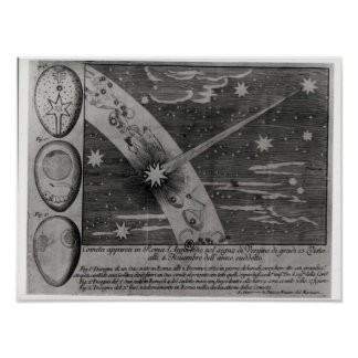 Astrological diagram of the comet poster