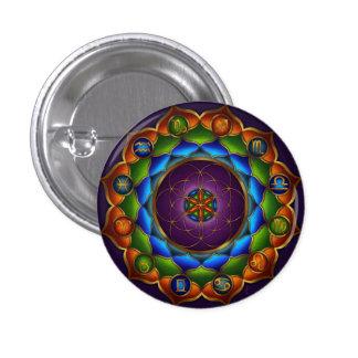 Astrological Mandala Button by Rachel C. Bemis