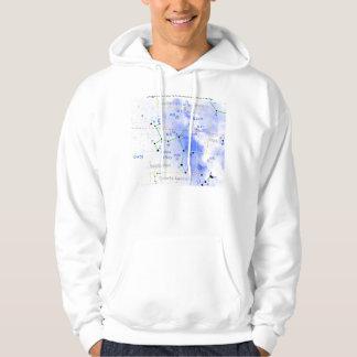 Astrological Sagittarius Zodiac Constellation Map Hoodie