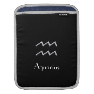Astrological Sign-Aquarius/faux chrome Sleeves For iPads